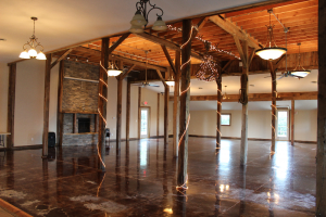 The event center located at Wooden Wheel Vineyards was built around the structure of an 1860s barn.