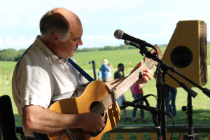 Live music accompanied East Grove Farms' grand opening festivities.