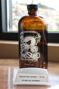 Half-growlers of Twisted Vine Brewery's beer can be purchased onsite, or in select locations.